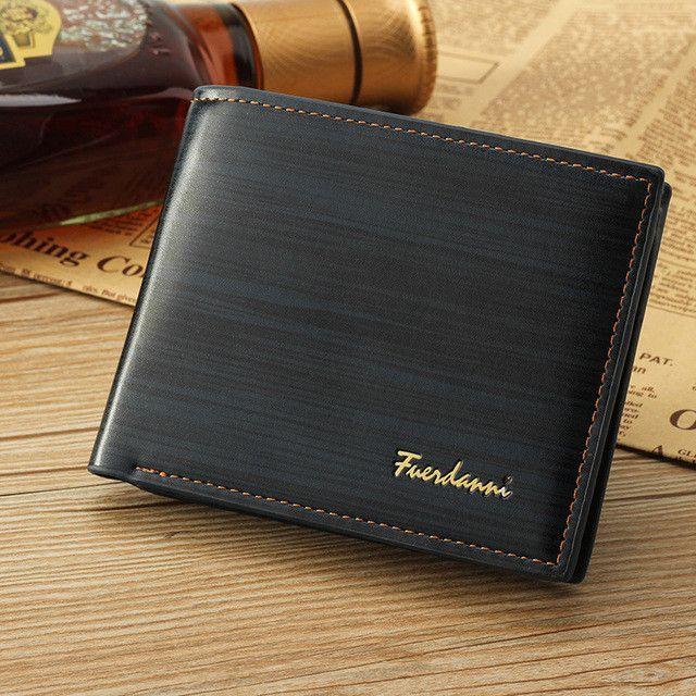 2017 Men Leather Brand Luxury Wallet Vintage Minimalist Short Slim Male  Purses Money Clip Credit Card Dollar Price Portomonee ac8fd875e0a52