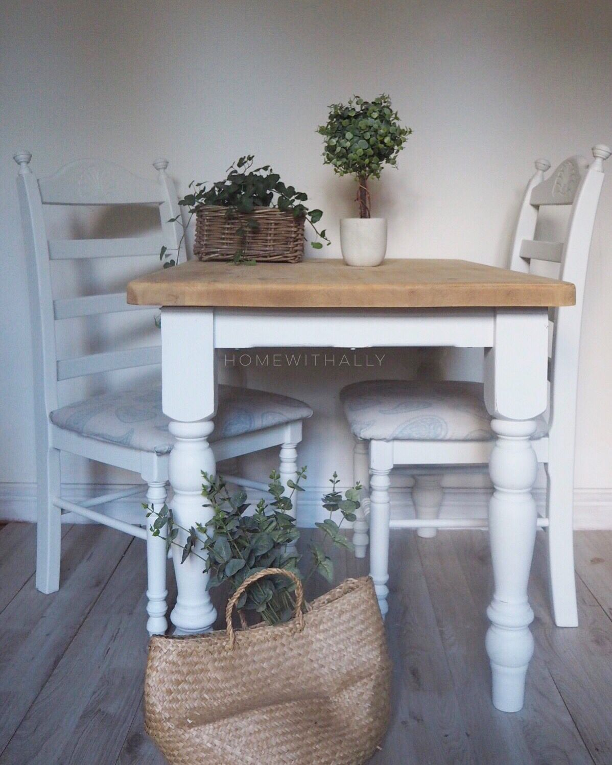 Admirable Farmhouse Pine Dining Table And Chairs Painted In Fusion Creativecarmelina Interior Chair Design Creativecarmelinacom