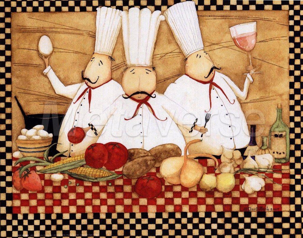 Картинки с поварами и хлебом для декупажа
