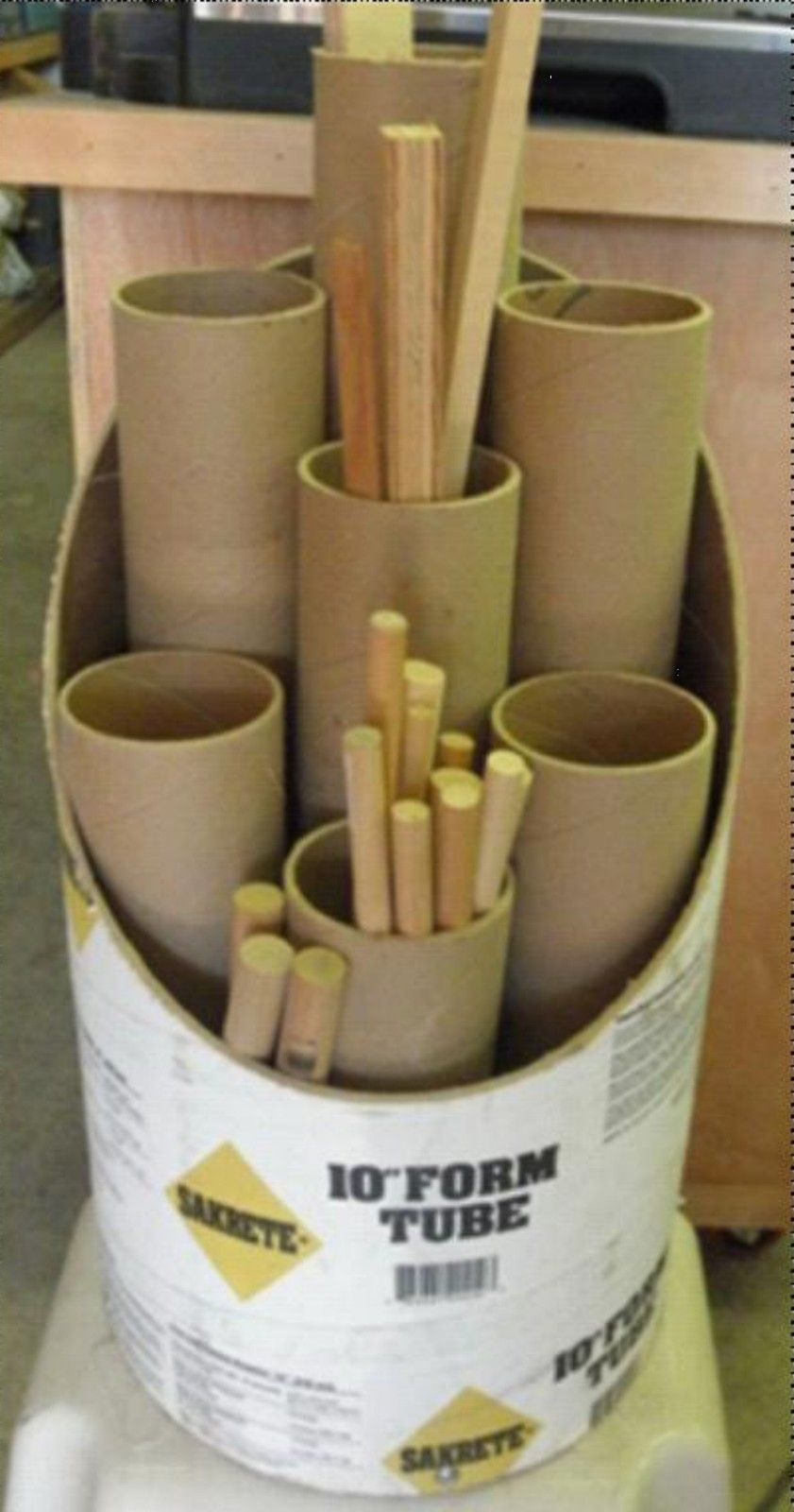 Concrete Tube Forms Concrete Form Tubes Or Smaller From Wrapping Toilet Paper Etc