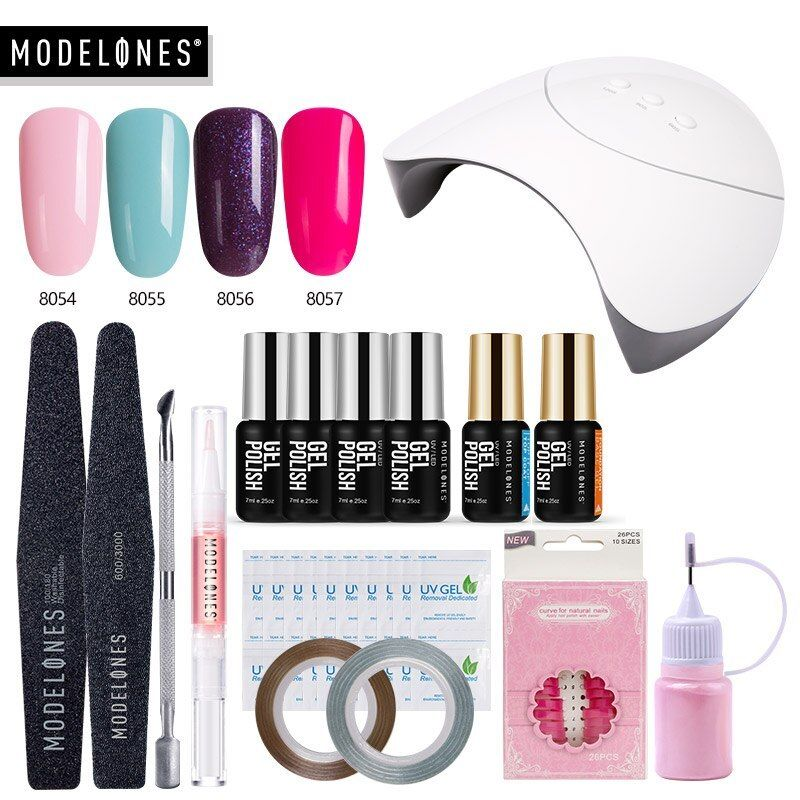 Beuget Acrylic Kit Fast Building Uv Gel Nail Polish Quick Extension Gel Varnish 48w Beuget Acrylic Fast Building Nail Acrylic Nail Kit Nail Kit Uv Lamp