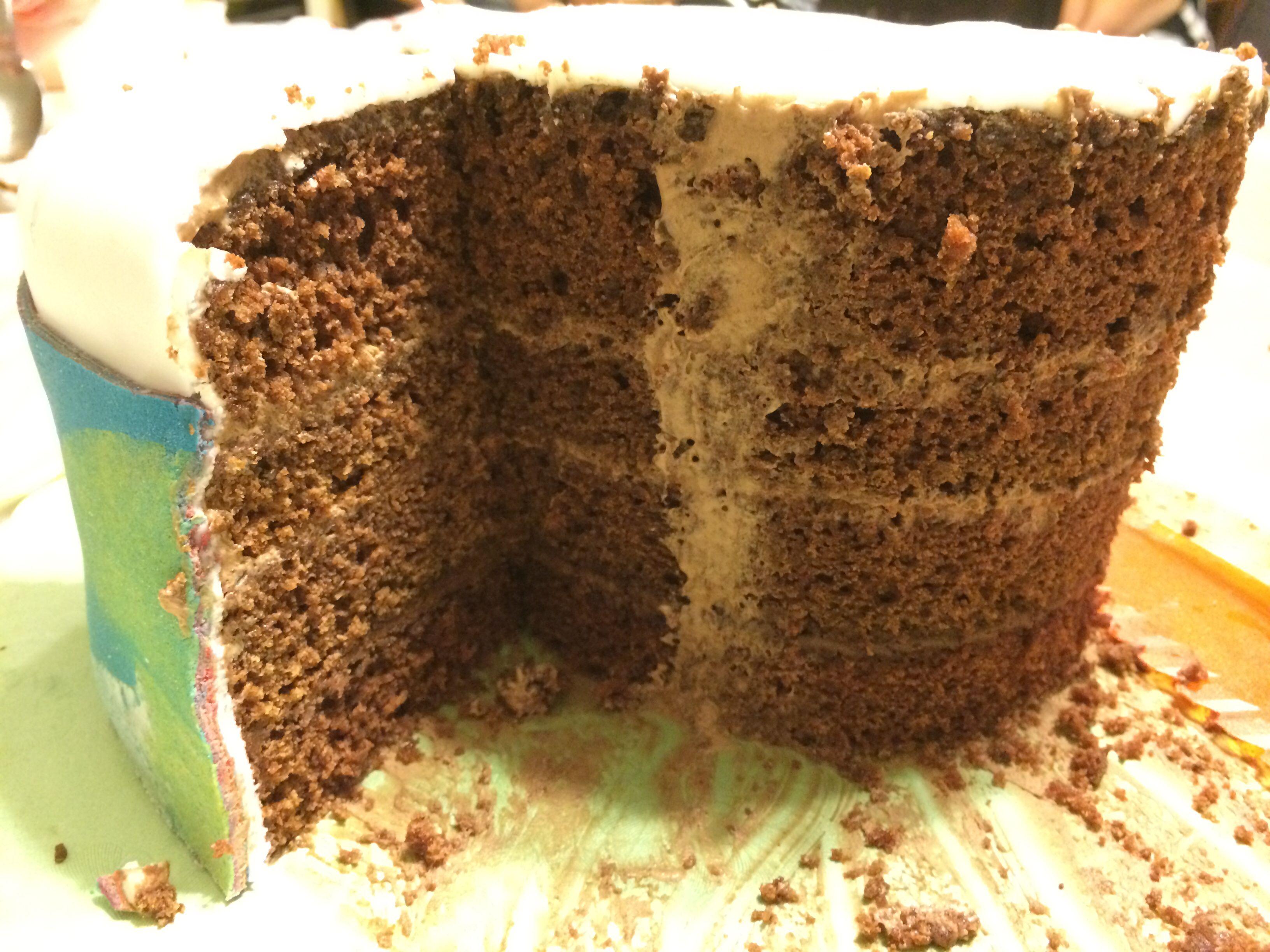 Torta de chocolate rellena con mousse de chocolate y nutella ...