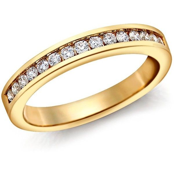 Blue Nile Channel Set Diamond Ring in 18k Yellow Gold (1/4 ct. tw.) ($890) ❤ liked on Polyvore