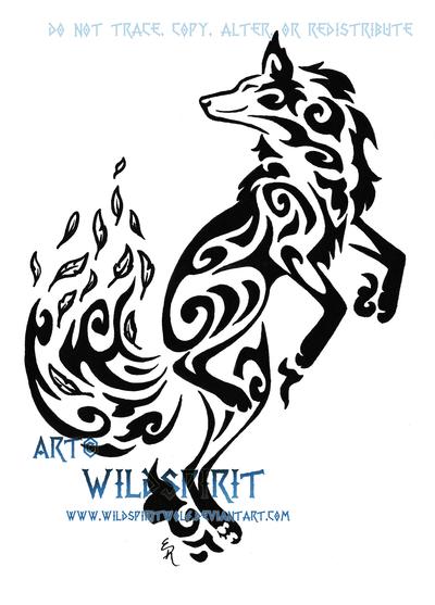 Dancing Fox Wind Tribal Tattoo By Wildspiritwolf On Deviantart Tribal Tattoos Tribal Wolf Tattoo Tribal Fox