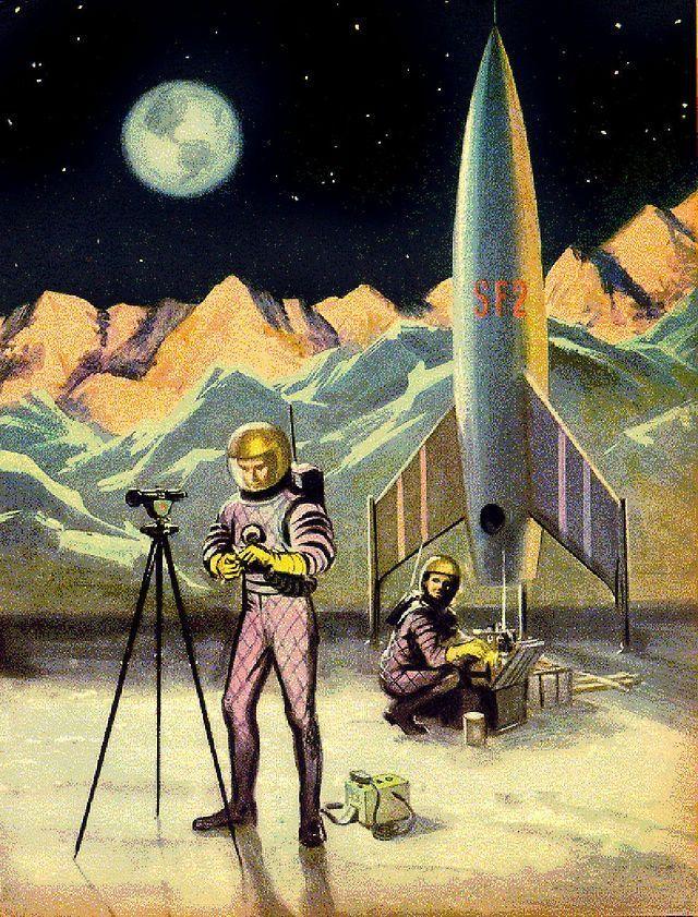 Spaceship Spacesuit Raygun Astronaut Pulp Retro Futurism Back To The Future Tomorrow Tomorrowland Space Planet Age Sci Fi Airship Steampunk Dieselpunk