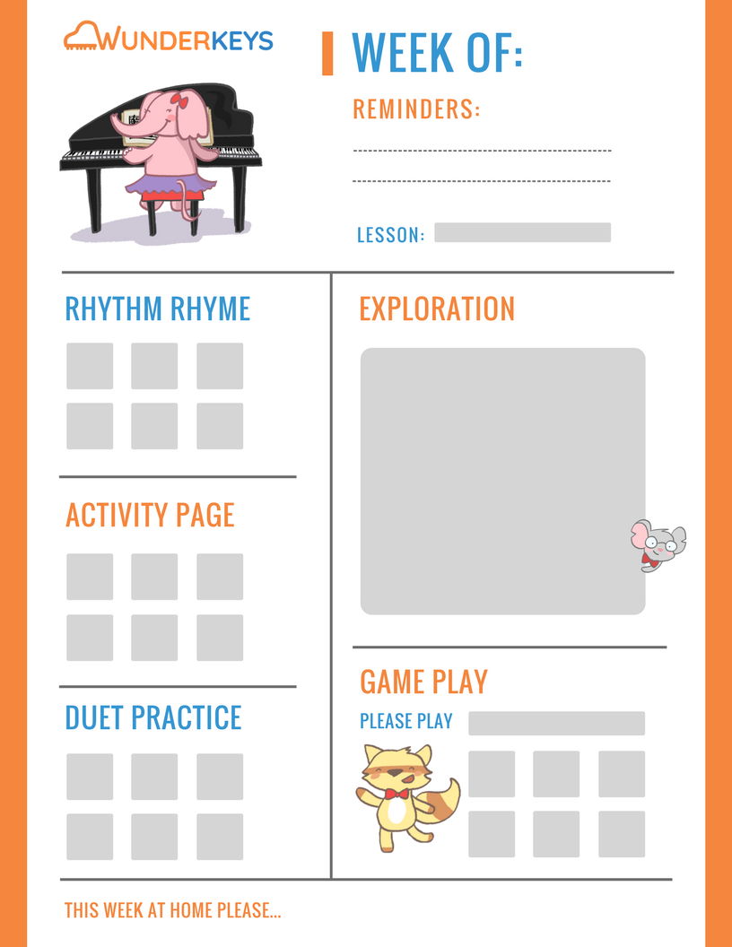Lesson Assignment Sheet For Wunderkeys Piano For Preschoolers Students Use This To Help Parents Guide Thei Piano Teaching Resources Piano Lessons Learn Piano [ 1056 x 816 Pixel ]
