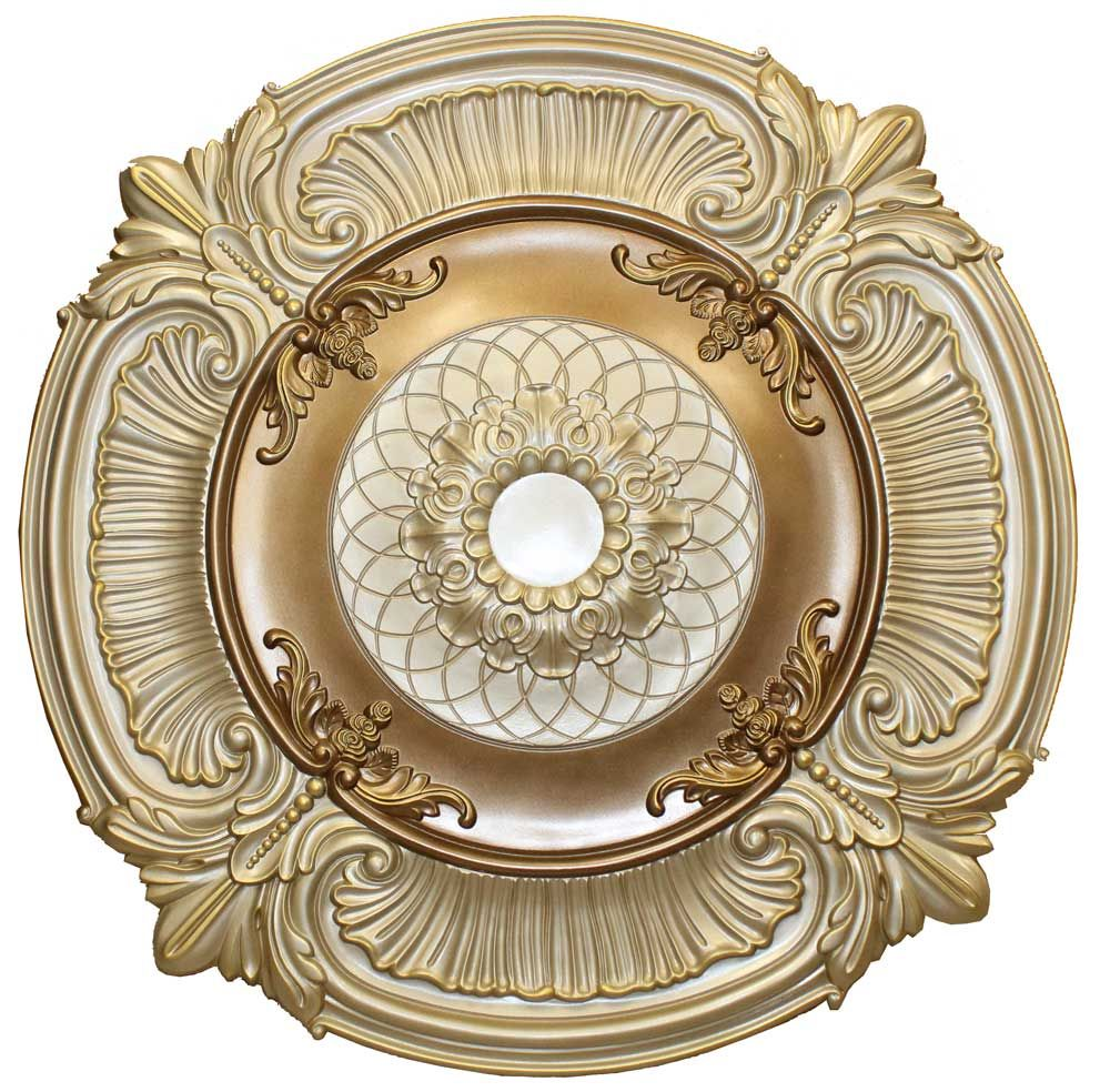 metallic ceilings faux sophisticatedglitz medallion decorative hand pin brass painted ceiling by