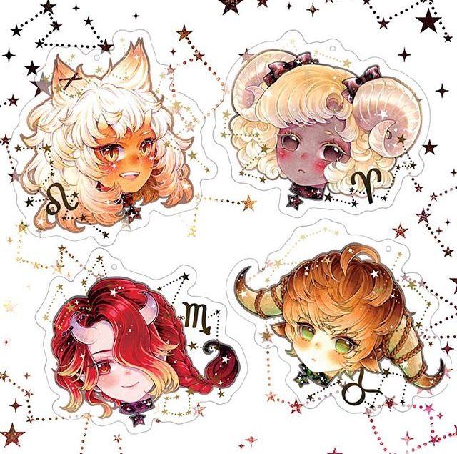 Pin by 『 』 on 12 zodiac Anime zodiac, Zodiac art, Kawaii art
