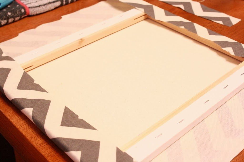 Chevron Canvas Monogram