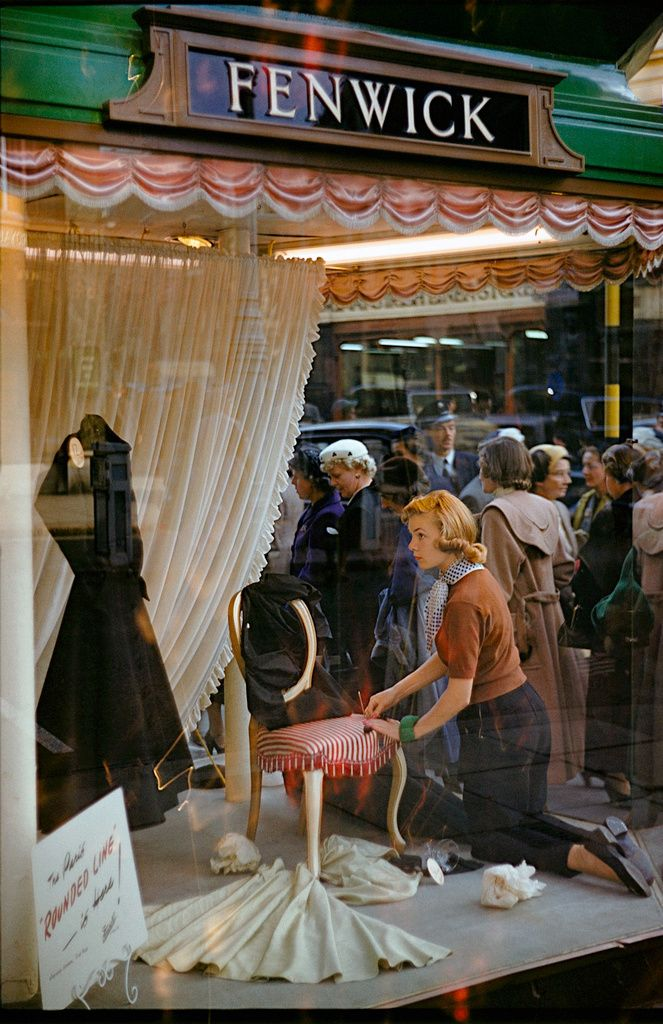 Fenwick Department Store London 1954 By Inge Morath Bond Street Vintage Lifestyle Inge Morath