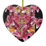 star gazer lilies floral art ceramic ornament  star gazer lilies floral art ceramic ornament  $16.85  by sharlesfineart  . More Designs http://bit.ly/2fwNuVk #zazzle