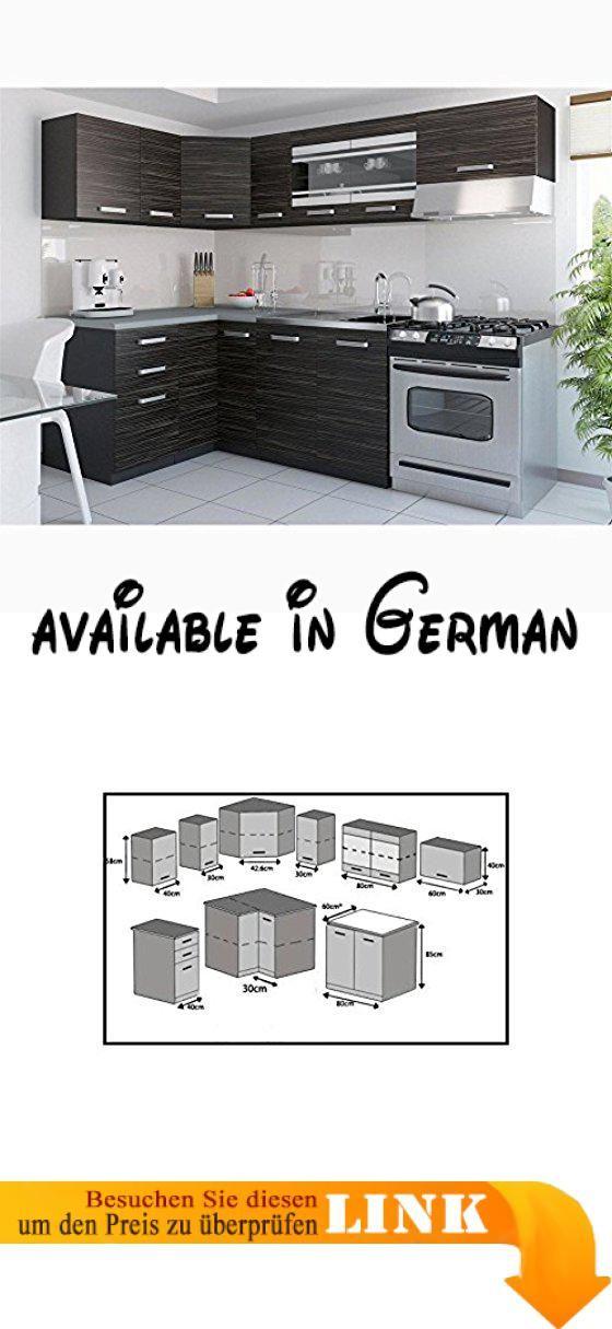 B00SJBNU7C  JUSTyou Torino III L-Küche Küchenzeile Küchenblock - armatur küche ausziehbar