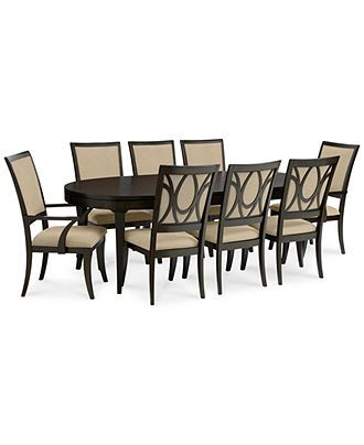 Quinton Dining Room Furniture 9 Piece Set Table 6 Side Chairs