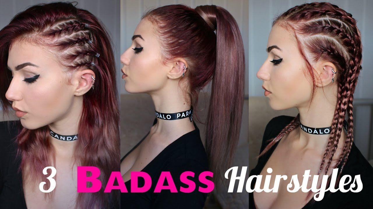 How To Look Edgy 3 Seriously Badass Hairstyles Stella Edgy Hair Medium Hair Styles Hair Styles