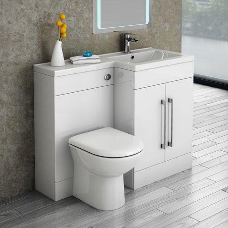 Valencia 1100 Combination Basin Wc Unit With Round Toilet Online Industrial Bathroom Decor Bathroom Suite Simple Small Bathroom Ideas