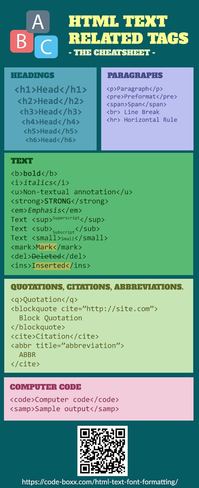 Basic Html Text And Fonts Web Development Design Web Development Programming Coding For Beginners