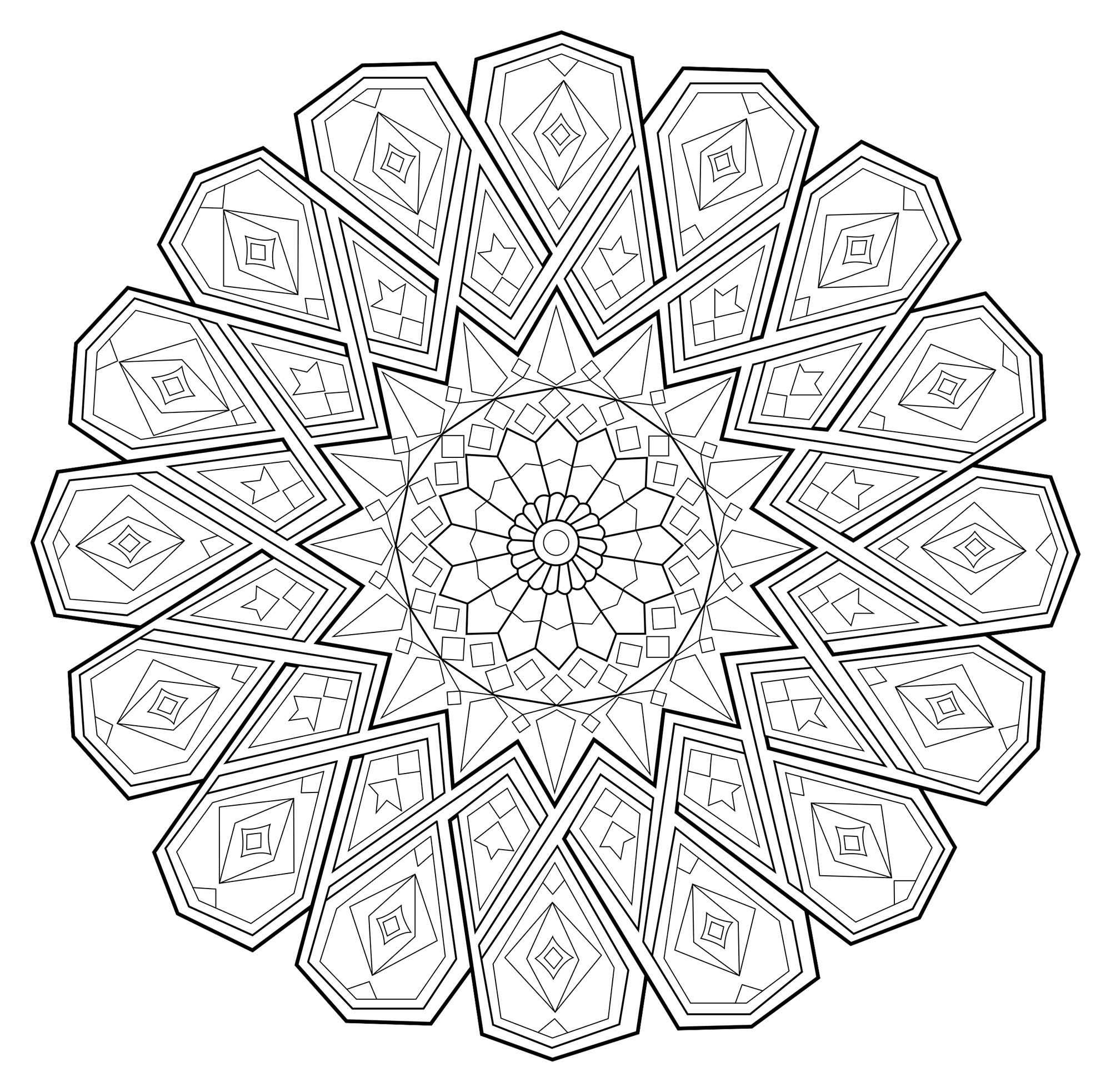 Mandala Anti Stress1 Zen Anti Stress Mandala 1 From The Gallery Mandalas Artist Celine Just Color Discover All Our Printable Coloring Pages F Free