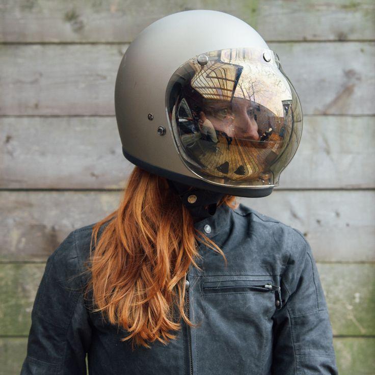 Http Townmoto Com Accessories Helmet Accessories Biltwell Bubble Shield Mirror Helmet Biltwell Helmet Vintage Helmet