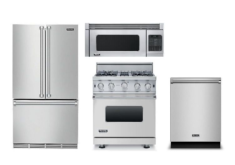 Details About Bosch Full Stainless Refrigerator Range Microwave