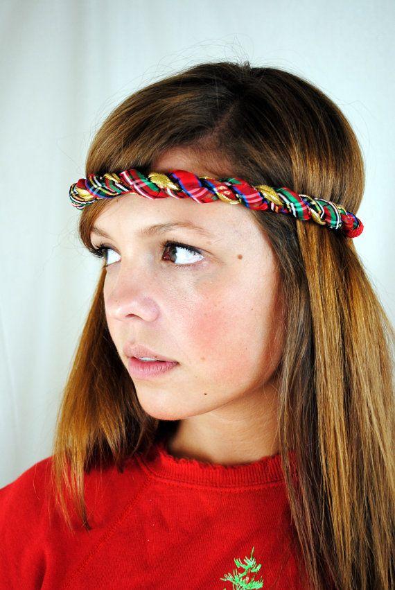 vintage christmas 80s workout headband
