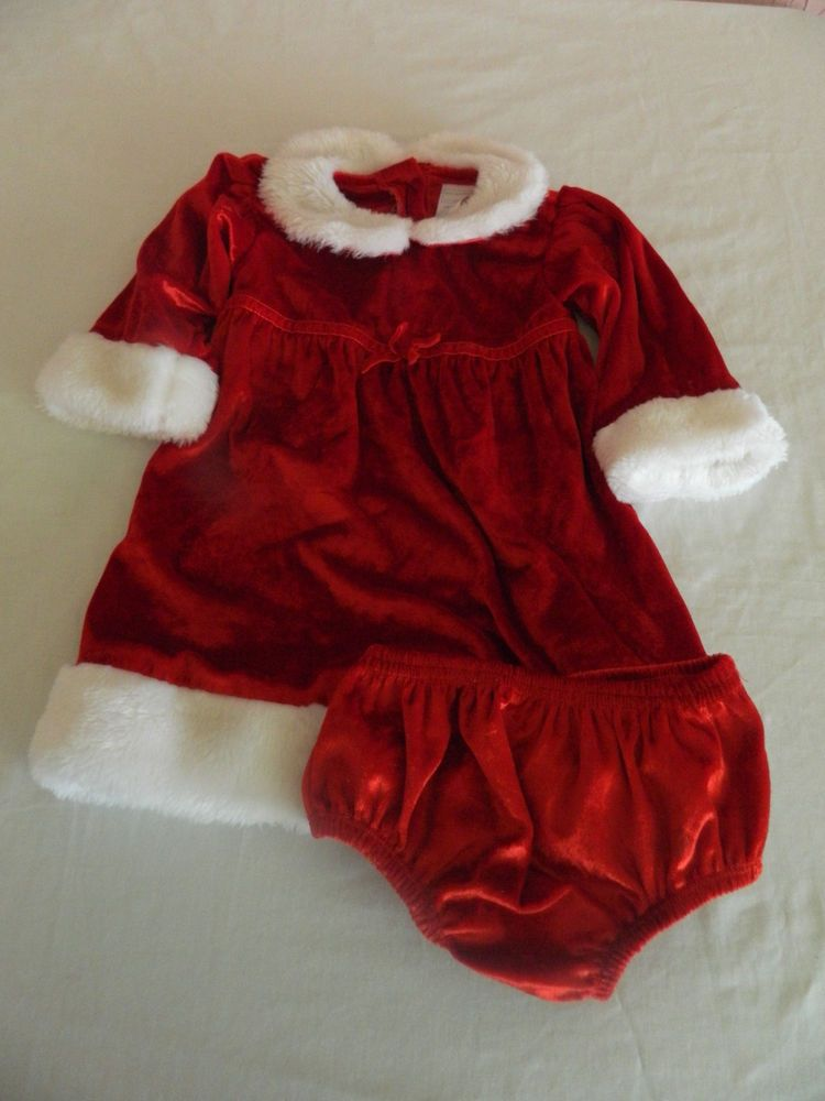 Wonder Kids Toddler Girl Christmas Dress Size 18 Month Red Velvet Faux Fur  #WonderKids #Party - Wonder Kids Toddler Girl Christmas Dress Size 18 Month Red Velvet