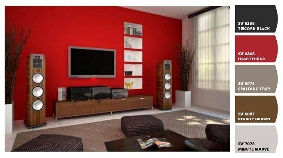 Salones 2 paletas de colores pinterest sal n rojo y for Comedor gris con rojo