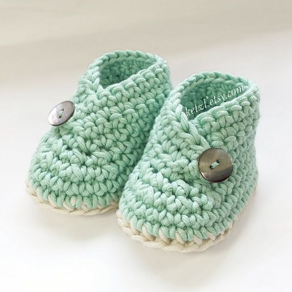 Crochet pattern baby booties shoes unisex boys or girls kimono style ...