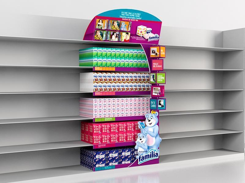 Pop dise o y produccion exhibidores en carton colombia for La gondola muebles
