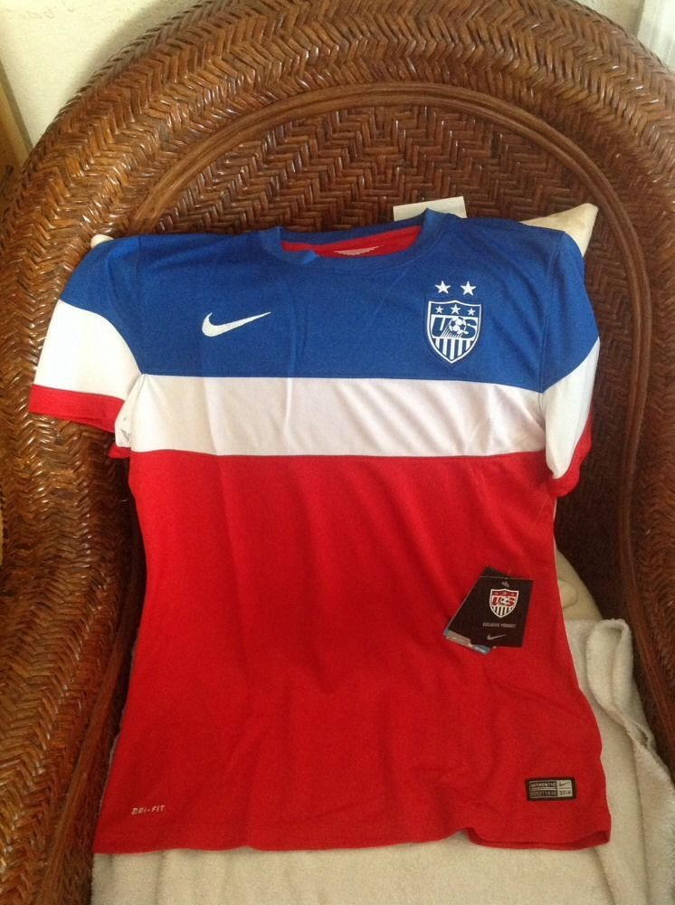 USA 2014 Nike authentic World Cup Soccer Jersey new with tags size L women s  in Sports Mem 6b4150b8cc