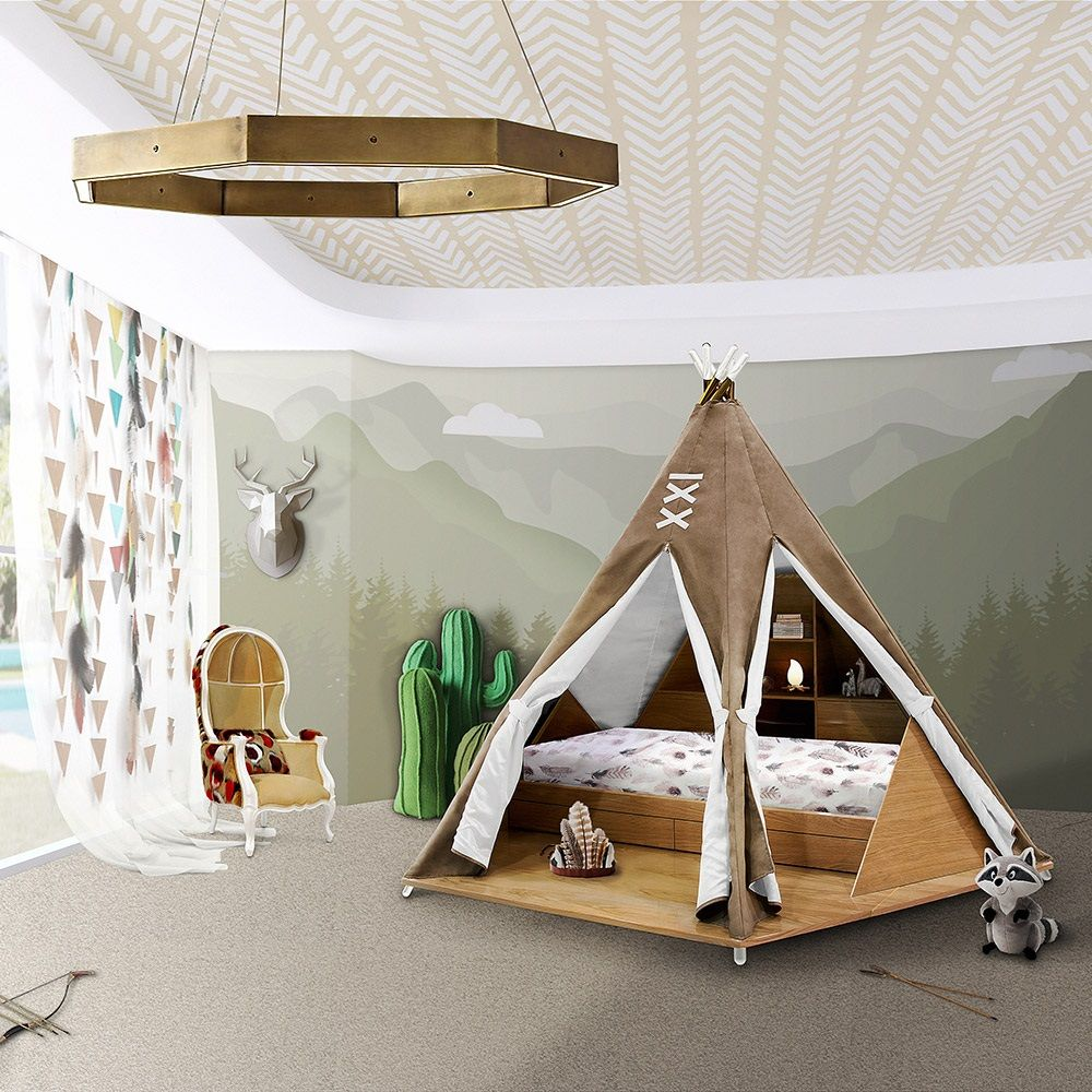 Best Luxury Childrens Teepee Tent Bed With Toy Storage Cool 400 x 300