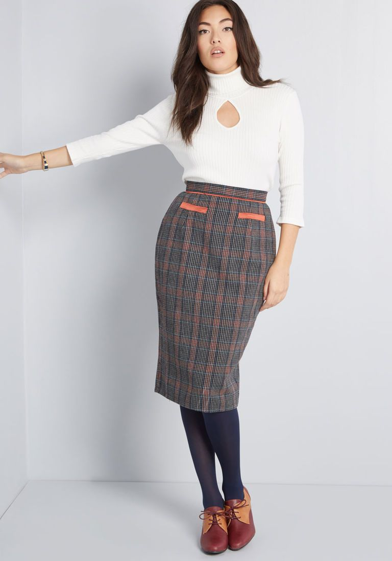 fe7c62f9cc1f37 The Mod Couple Pencil Skirt in 18 (UK) - Mid by Banned from ModCloth