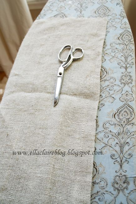 {Ella Claire}: Tutorial: Pottery Barn Burlap Table Runner with Perfect Edges