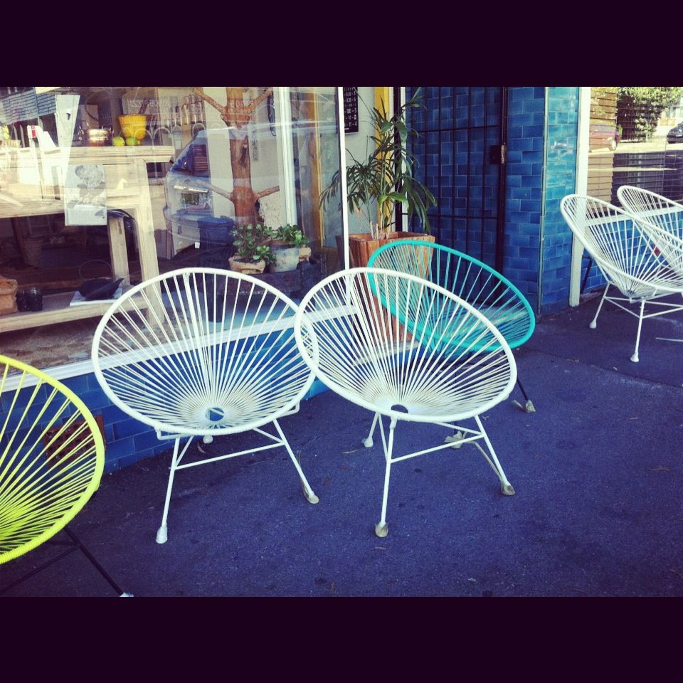 From my living room greenpoint works acapulco chair in leather meets - Acapulco Chairs From Living Edge In Coogee