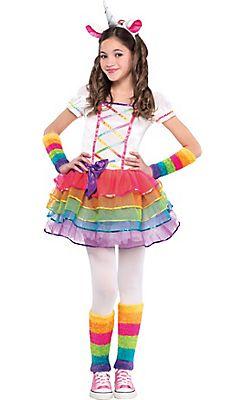 Girls Rainbow Unicorn Costume | Costumes | Pinterest