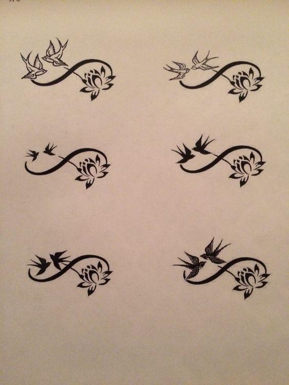 tattoos swallows and infinity – Samantha Smith