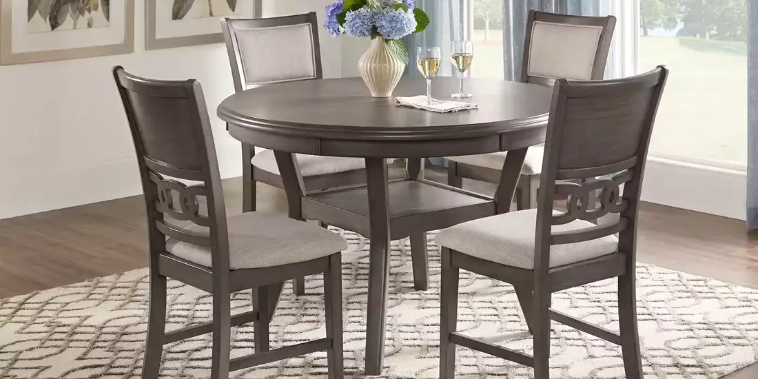 Brookgate Gray 5 Pc Round Dining Set Rooms To Go Dining Room Sets Round Dining Set Rooms To Go Furniture