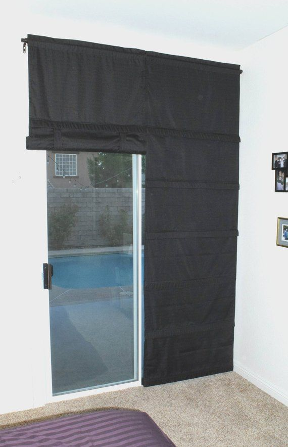Black Blackout Cordless Sliding Glass Door Shade Pricing Is For 1 Panel In 2020 Sliding Glass Door Sliding Glass Door Window Sliding Glass Door Curtains