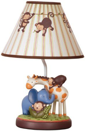 Amazon Com Kids Line Jungle 123 Lamp Base And Shade Brown Baby Baby Boy Nursery Decor Baby Jungle Nursery Jungle Theme Nursery