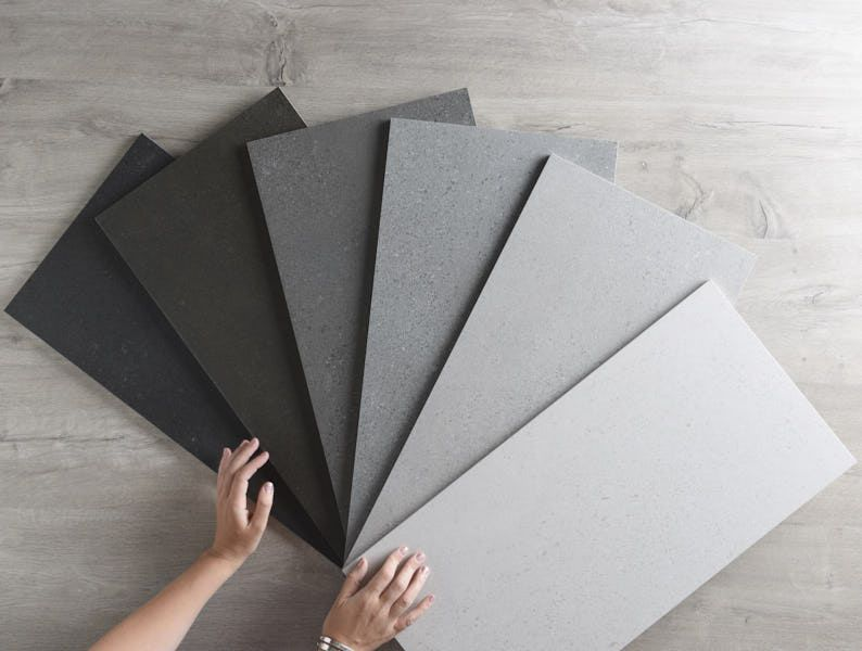 Hobart Semi Polished Concrete Look Tile 600 Mm X 600 Mm 59 Square Metre Concrete Look Tile Polished Concrete Concrete Tile Floor