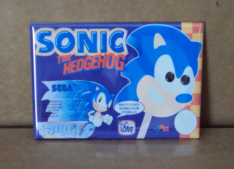 Sonic The Hedgehog Ice Cream Sign Fridge Magnet Fridge Magnets Ice Cream Fridge Ice Cream Sign