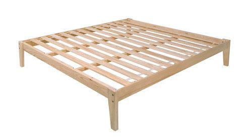 King Size Pine Wood Platform Bed Frame Unfinished New Ebay