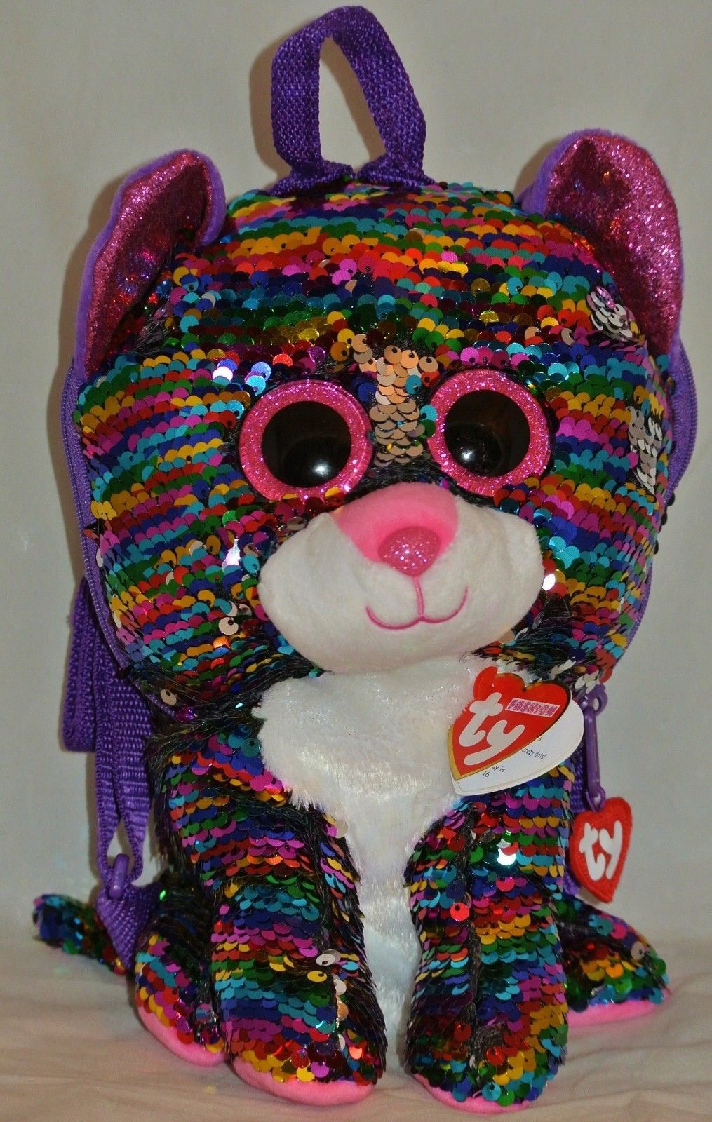 eacfc962a9f Current 438  Ty Beanie Boos Fashion Color Changing Sequins Dotty Leopard  Backpack 13 In Hand