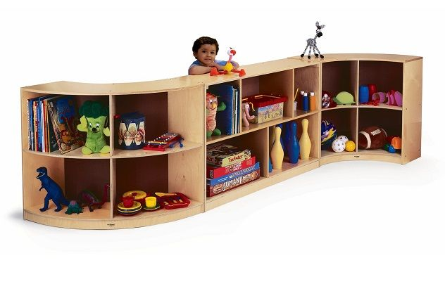 Curved Storage Cabinets For Nursery Daycare Or Kids Room