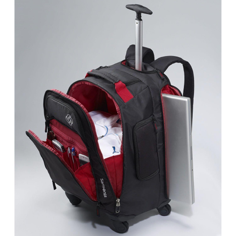 Samsonite Wheeled Backpack, Black/Charcoal, One Size | Laptop ...