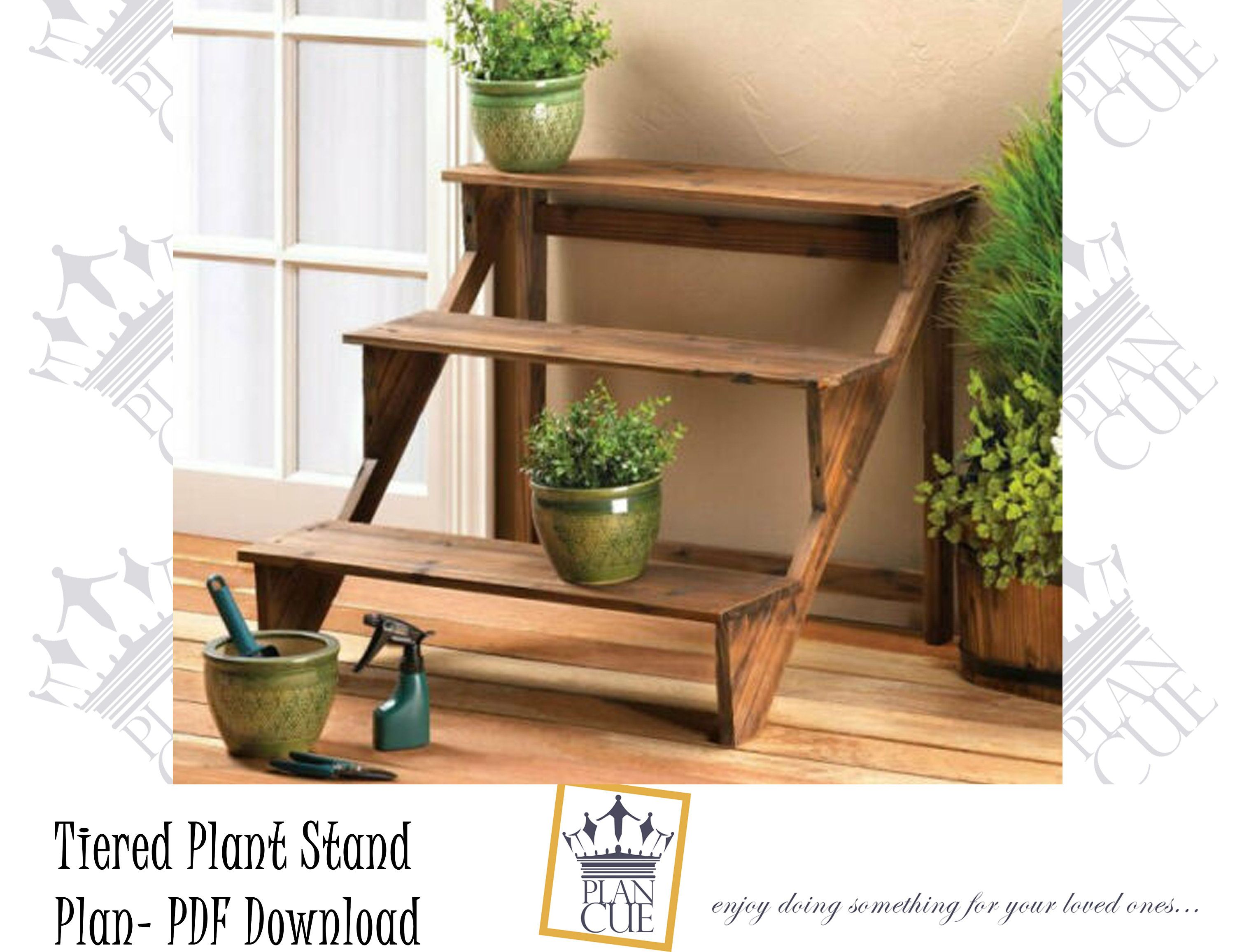 Tiered Plant Stand Plan Diy Plan For Flower Stand Craft Fair Display Stand Plans Cupcake Stand 3 Tier Plan Wooden Plant Stands Wood Plant Stand Plant Stand