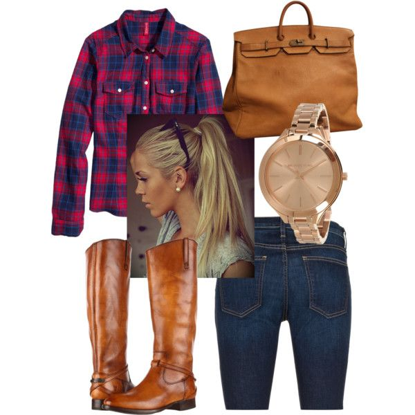 A fashion look from August 2013 featuring H&M tops, Current/Elliott jeans and Frye boots. Browse and shop related looks.