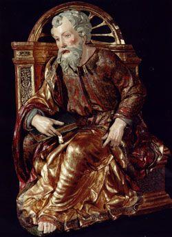 RETABLO MAYOR DE LA CAPILLA REAL DE GRANADA (1521) - SAN PABLO - FELIPE VIGARNY