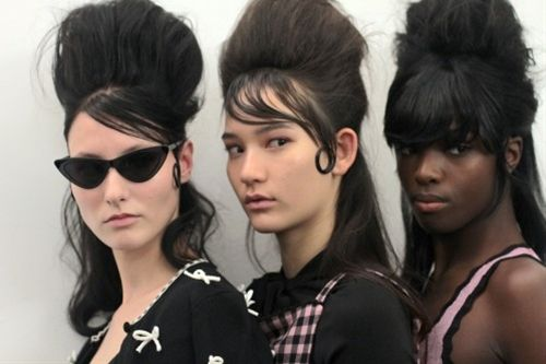 Dying over this girl gang backstage at Adam SelmanHair: Bumble...