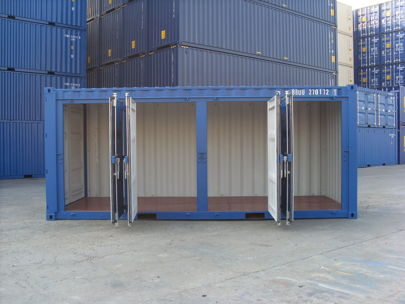 A Special Container Conversion Built For The Self Storage Container Market We Will Split This Side O Shipping Container Storage Portable Storage Self Storage