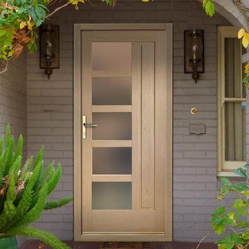 Lucca Oak Exterior Door With Obscure Double Glazing
